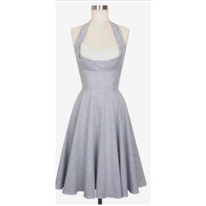 Trashy Diva Seersucker Lena Halter Dress Size 0
